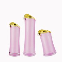 Elegant sample luxury gold plastic bottle cosmetics containers packaging