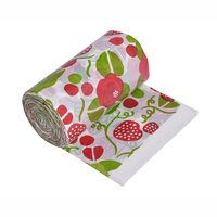 Custom color garbage bag manufacturer floral rubbish roll