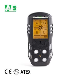 CE ATEX approved CO H2S O2 CH4 portable 4 Gas Meter