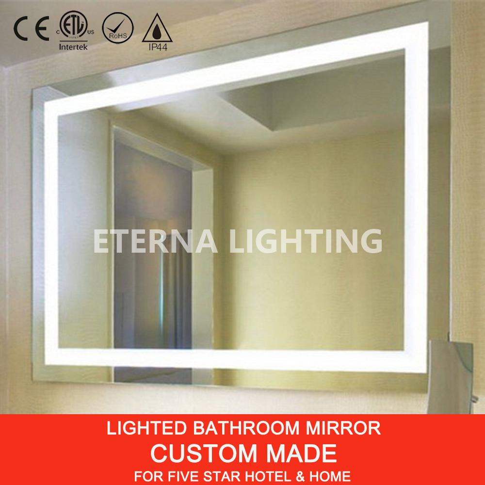 Ip44 Led Lighted Frameless Bathroom Mirror