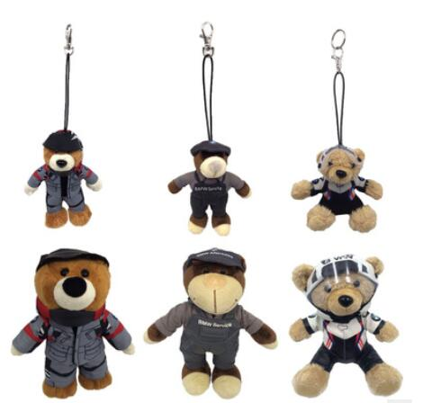Funny mini plush teddy bear keychain plush toys keychain