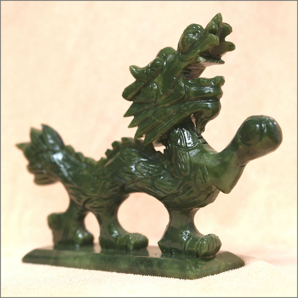 Chinese jade dragon carvings statue asian inspired jadeite as gift