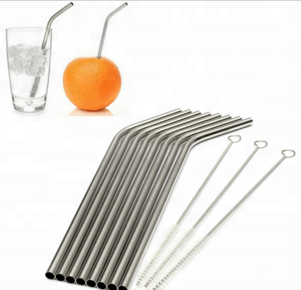 Wholesale Stainless Steel Metal Drinking Straw Set With Brush