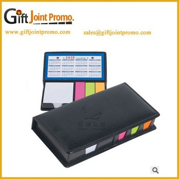 Promotional Pu Leather Cover Sticky Note Sets,Memo Pad /sticky ...