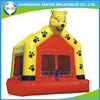 New design cheap yellow bear inflatable bouncer castle, indoor inflatable bouncer for kids