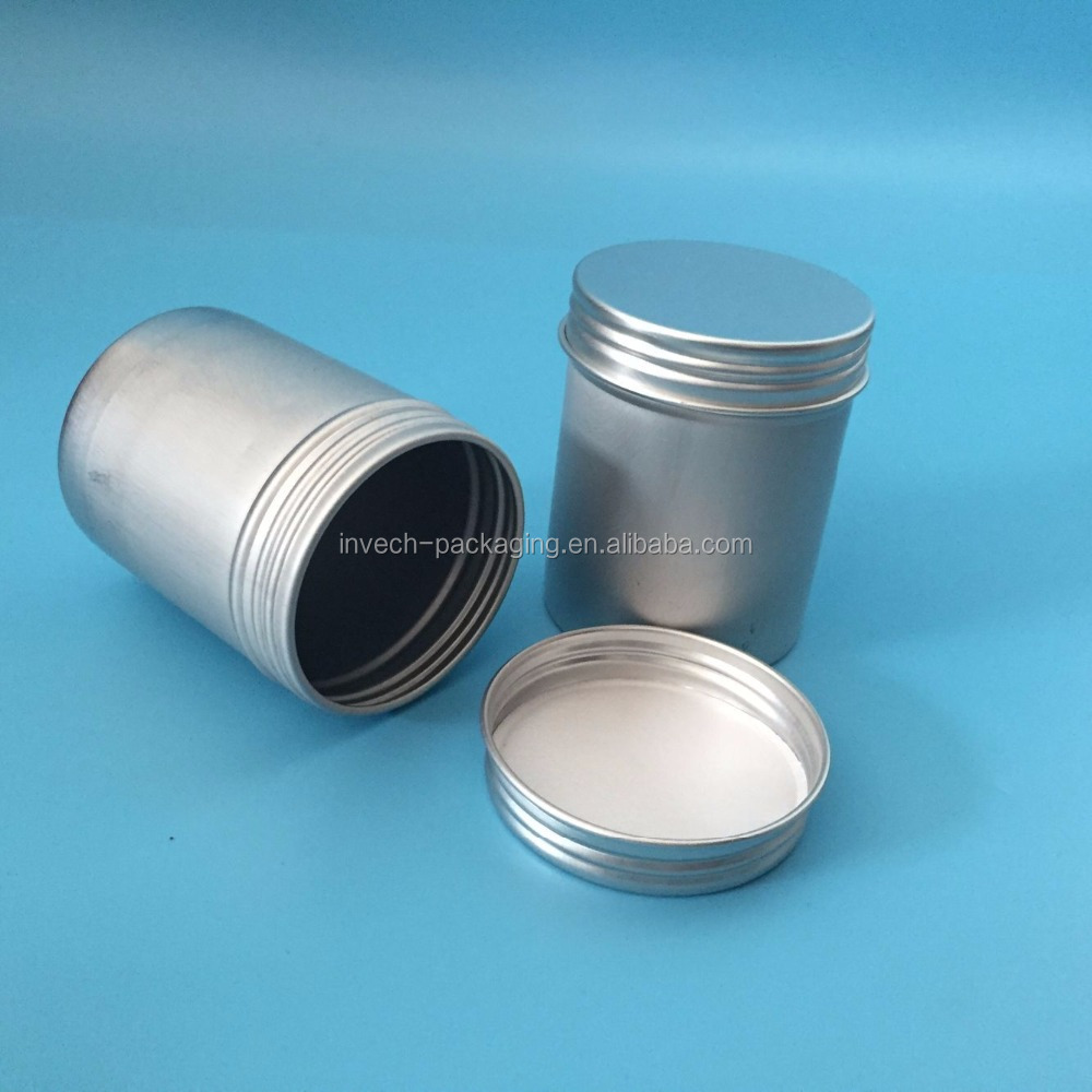 thicker aluminum tea canister, good quality aluminum can 100gram for tea