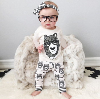 f7bf76b13 Latest design Fashion Cute Lion pattern Baby Boy Clothes set Clothing  Outfits