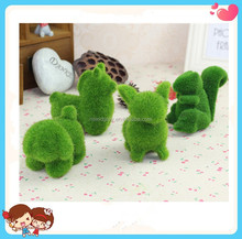 best seller hot cute green grass animal shaped plush decoration toy for kids