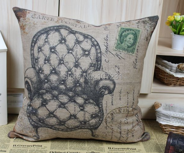 18 Inch 45x45cm Linen Cotton Cushion Cover Throw Pillow
