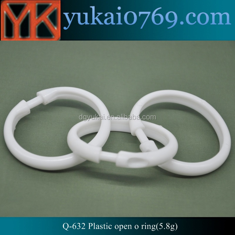 Yukai plastic o snap shower curtain rings,standard o ring buckle