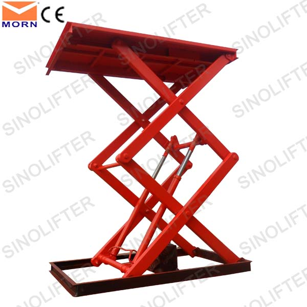 2.4m hydraulic double scissor lift table