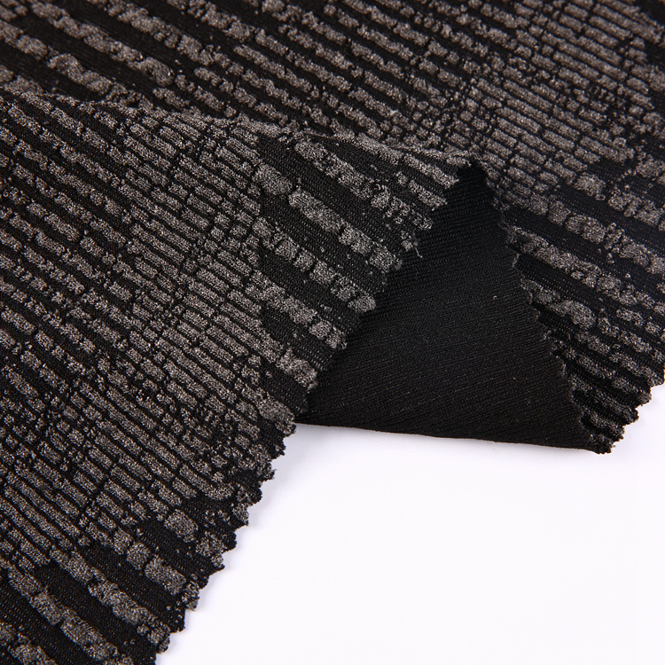 Newest design custom jacquard cable knit fabric sweater stretch fabric tube