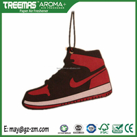 Low MOQ hanging car wash air freshener jordan shoes air freshener