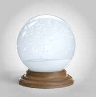 custom glass dome wood base empty snow globe