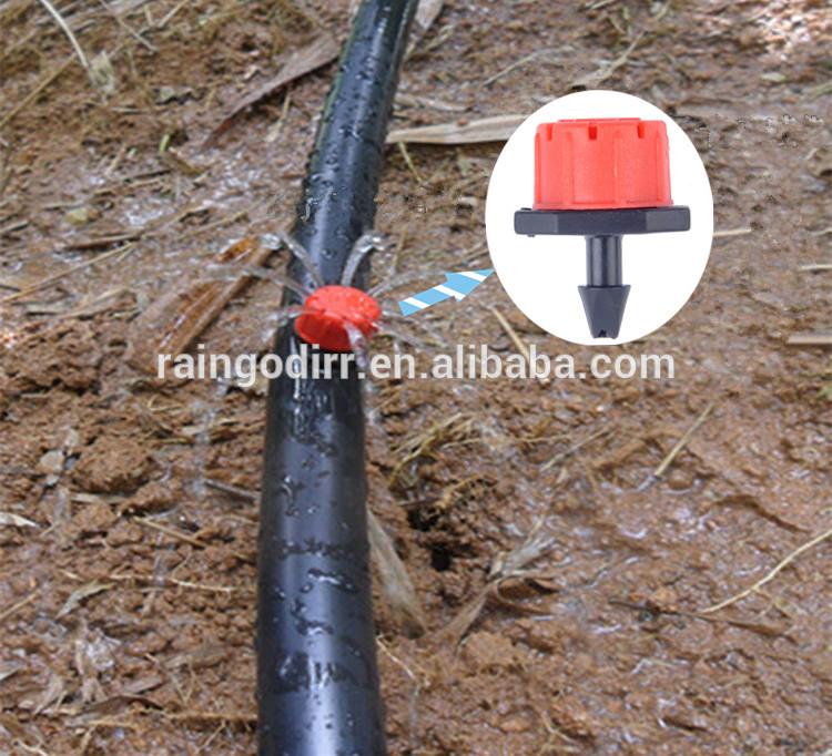 Conectar el riego por goteo de tubo ajustable emisor - Tubo riego por goteo ...