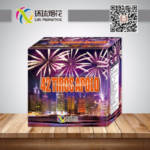 GFCC3042 42TIROS APOLO 1.4G LIUYANG FIREWORKS BIG PARTY BATERIA FIREWORKS UN0336 FOR CHINESE NEW YEAR CHRISTMAS CELEBRATION