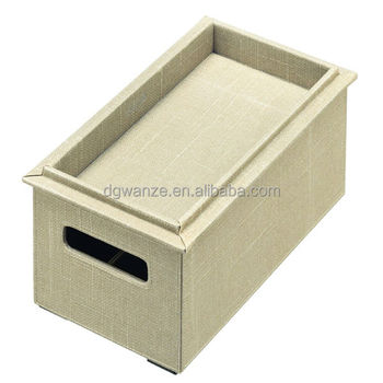 Cardboard Linen Storage Box For CD/DVD