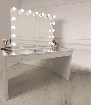 Bedroom Makeup Station Vanity Table With Mirror With Drawers - Buy Vanity  Table With Mirror,Vanity Table With Drawers,Bedroom Makeup Station Product  ...