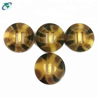 Quality Chinese Supplier Square 2 Holes Plastic Logo Button Maker Fake Buffalo Horn Button Botones de madera