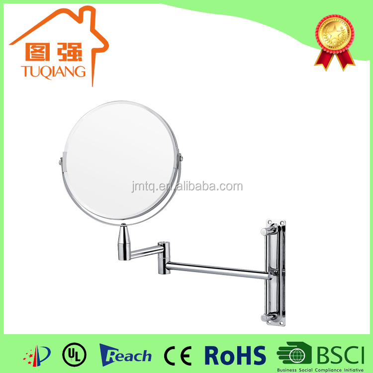 Hotel bathroom 7 inch round double sided wall mounted concave makeup mirror
