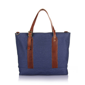 Vintage unisex canvas tote bag , waxed canvas bag with shoulder strap for men and women