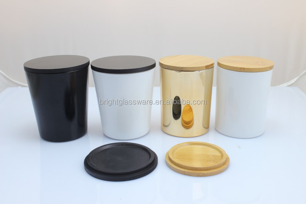 Candle Jar With Wooden Lid Bamboo Lid Glass Jar Candle Cup Lids Wholesale Buy Candle Jar With