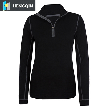 c574029443 womens merino wool base layer top half zip long sleeve sports underwear