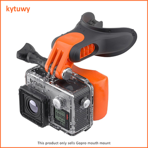 Wholesale price sport action camera accessories Mouth Mount with screw for gopro 7/6/5/4/3+
