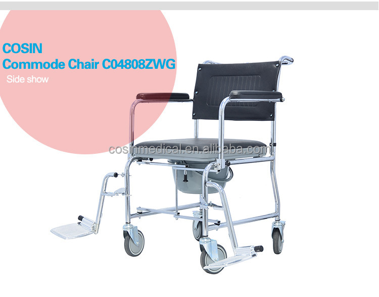 Commode Chair With Wheels Commode Chair With Wheels Suppliers and