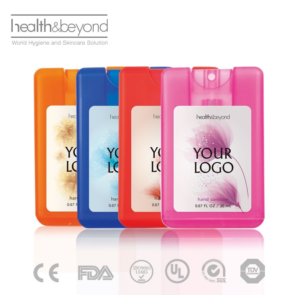 promotional logo free mini pocket hand sanitizer spray hand gel spray with fragrance travel pack Alcohol Hand Sanitizer Gel