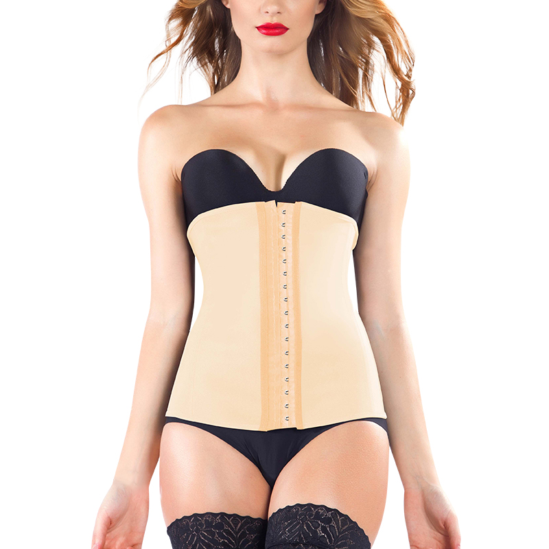 S-SHAPER Classic Lattice Body Shaper Cintura, Nude Colore Colombiano Vita Cincher