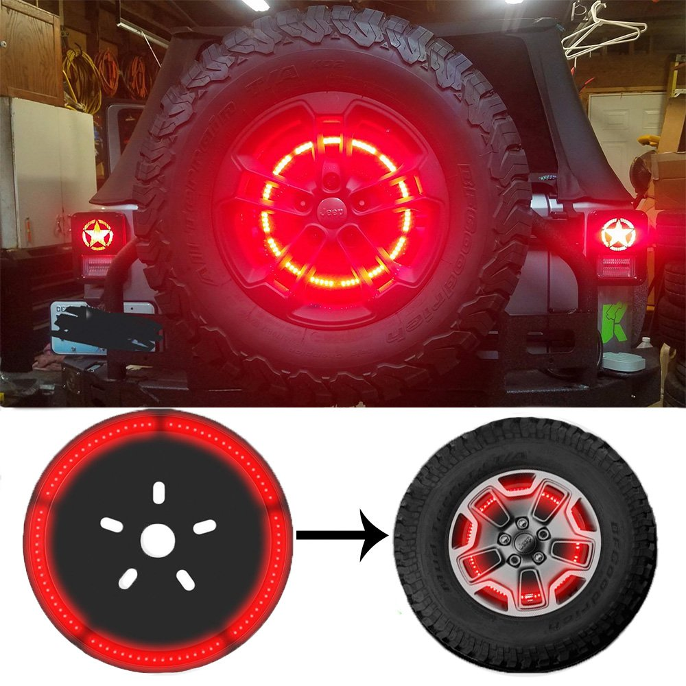 Cheap Wrangler Brake Light Find Deals On Line Jeep Tj Reverse Lights Get Quotations Spare Tire Wheel Led 3rd Third Lamp Ring For