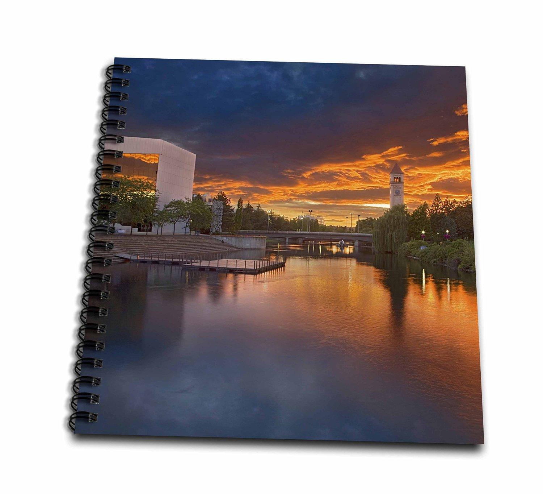 Danita Delimont - Charles Gurche - Rivers - USA, Washington, Spokane, Riverfront Park, Spokane River, Clock Tower - Memory Book 12 x 12 inch (db_189845_2)