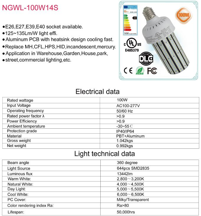 200w Cfl 400w Mh Lamps Replacement E27 E40 E39 E39 E26