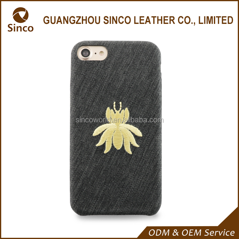 Unique embroidered phone case ultra-thin phone back cover for iphone 7