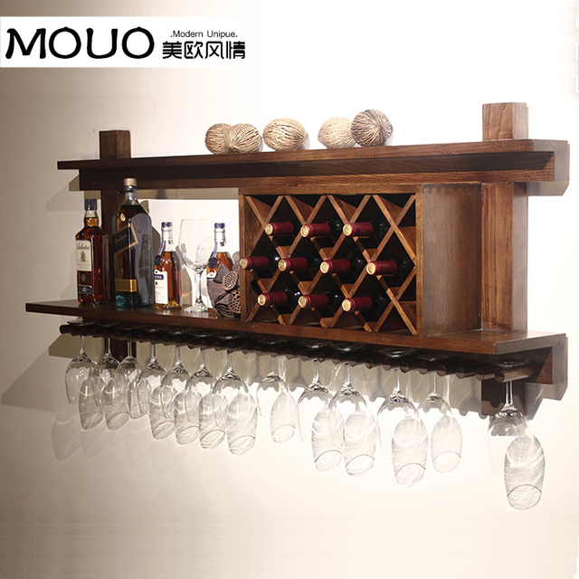 Wall Mounted Wood Wine Rack Wine Rack Wine Cooler European