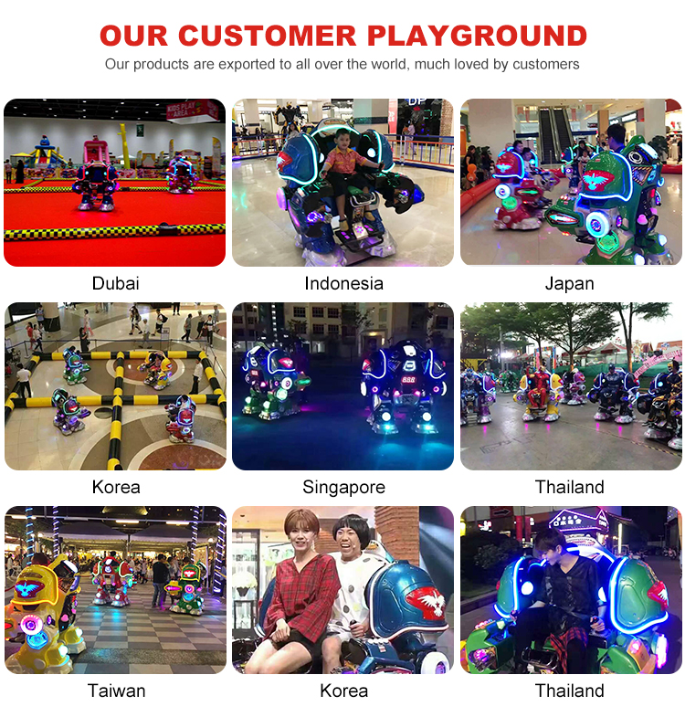 Amusement Arcade Cool And Amazing Lighting Effect Kiddie Rider Magic+Magic Rider Robot