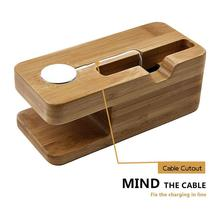 Multi-functional wooden charging stand holder wood docking station for iPhone 6/ Apple watch, China