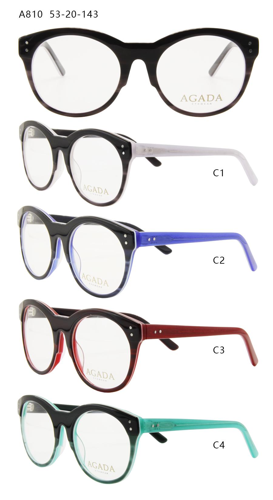 Acetate Licht Gewicht Nerd Brille mit Klare Linse