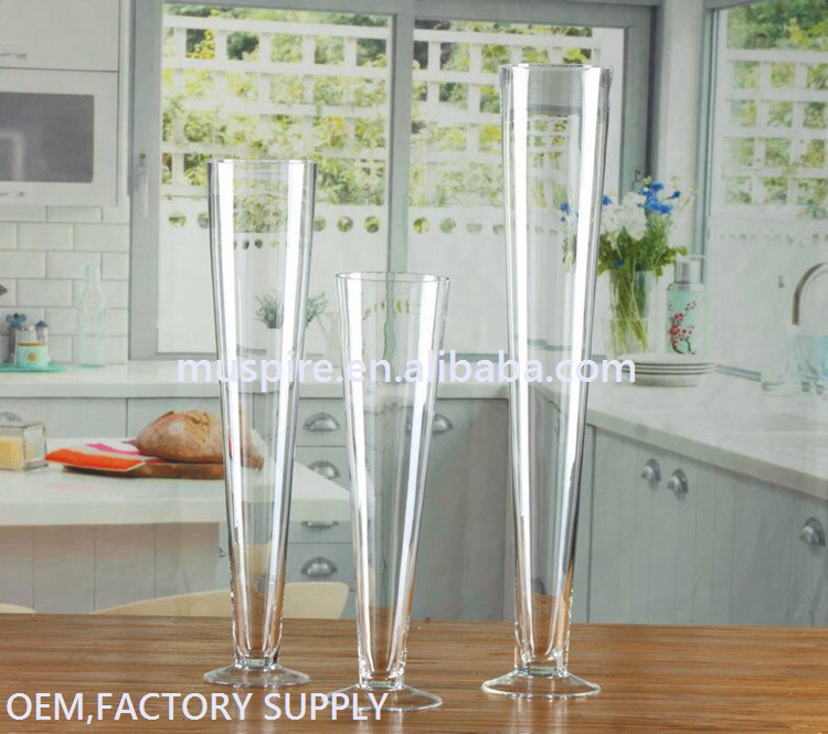 Glass Crafts_glass vase!GV130 Tall Glass Vase Wedding#zt GV130 Tall Glass Vase Wedding Centerpiece (7)