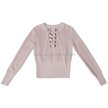 af39df96929 Latest tunic tops lace up sweater fashion designer western tops images