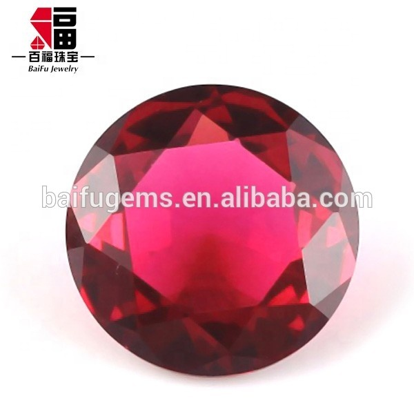 wholesale price small size round brillant cut red topaz loose clear glass gemstone