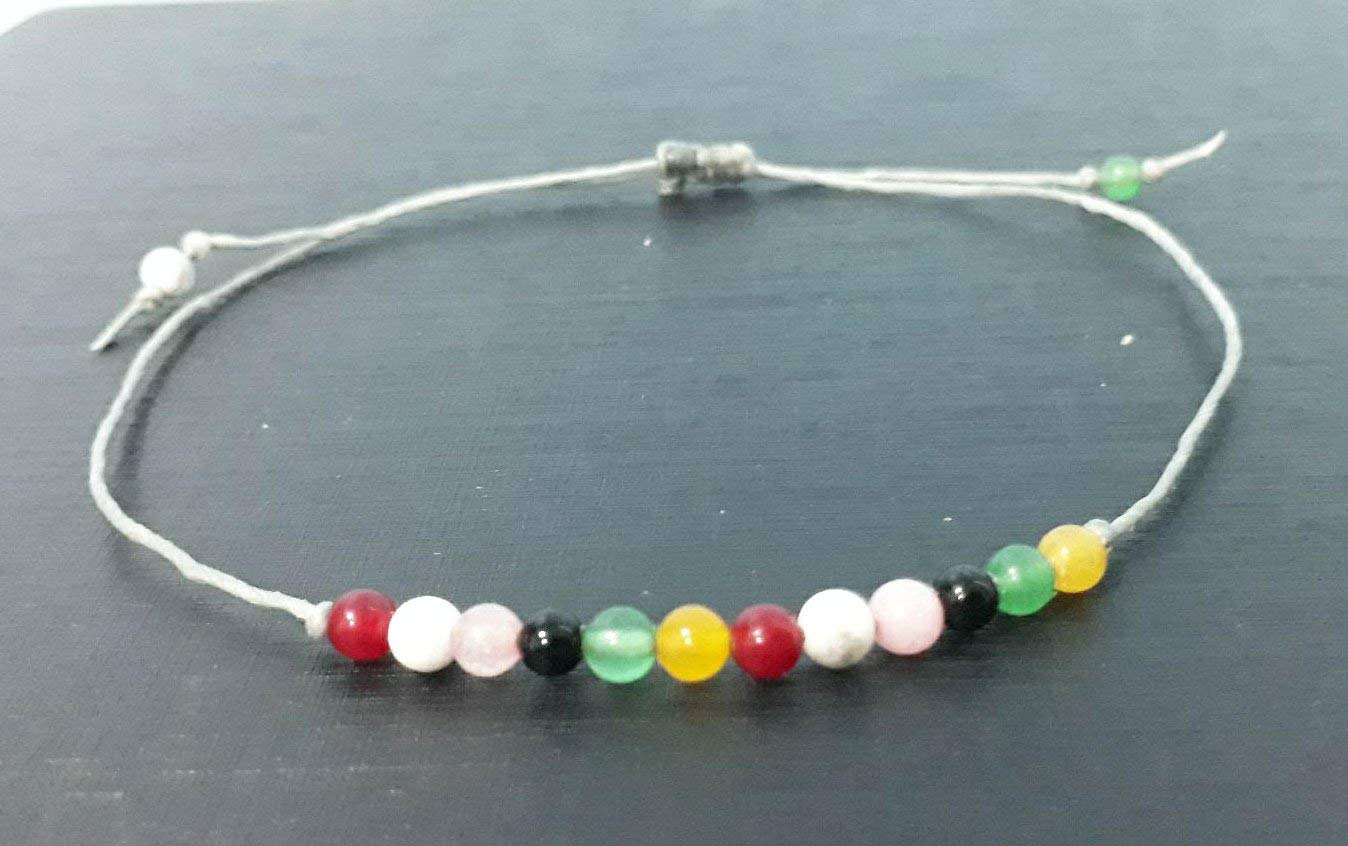 Jade onyx howlite rose quartz ruby stone anklets for men and women fashion gift anklets gemstone anklets