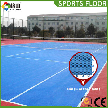 Flexible Price Pp Interlocking Plastic Tennis Court Surface Durable
