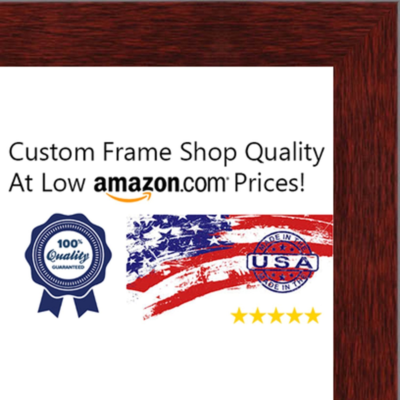 Buy 8.5x11 Traditional Mahogany Wood Shadow Box Frame - UV Acrylic ...