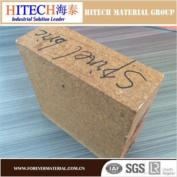 qualified manufacturer zibo hitech Alumina Spinel Refractory Brick with tough texture and high quality of compression resista