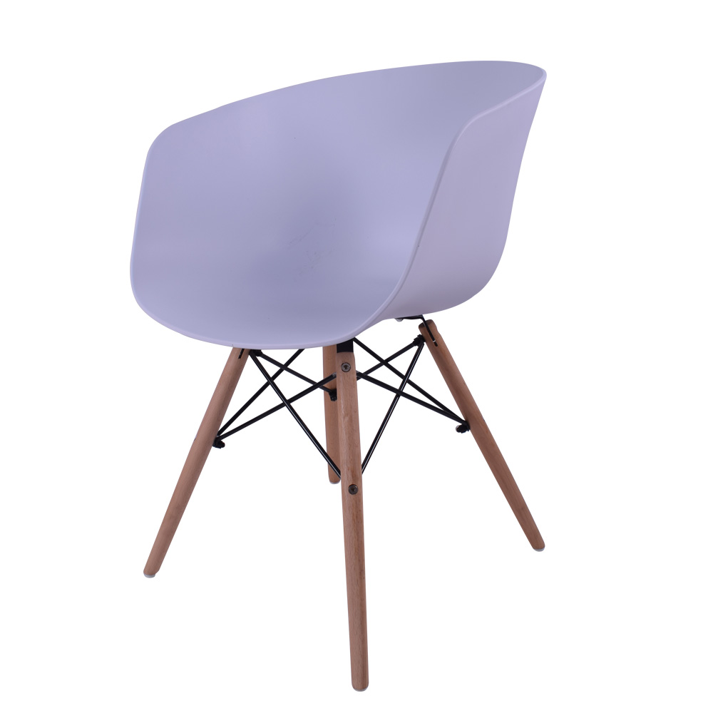 China wholesale modern design cheap plastic chair with beach wooden leg