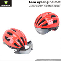 2017 New design custom logo road cycling bicycle helmet with goggles