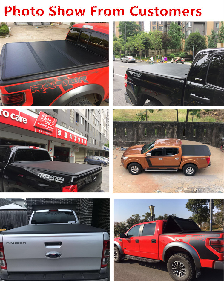 2018 New Design Aluminum Hard Fold Tonneau Cover Truck Bed Cover For Gmc Sierra 2007-2011 6.5' Bed