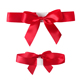 Pre-made red satin ribbon gift wrapping elastic band bow for box